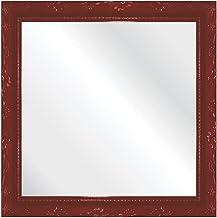 Espelho Brilho Rococo 31X31cm Kapos Vermelho