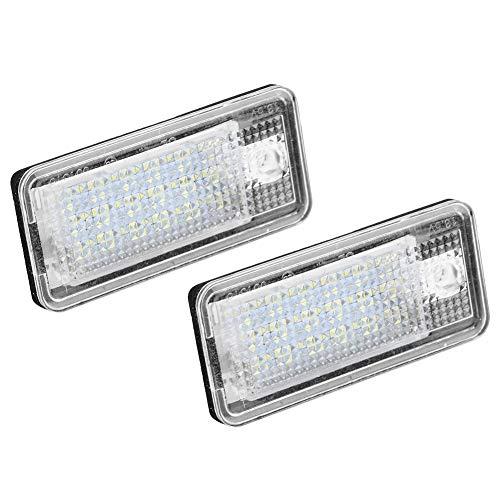 Aramox LED License Plate Lamp, 2Pcs Car Led Number Hop-Lpl0114 Plate Lamp Bulb Kit For A3 S3 A4 S4 B6 B7 A6 C6 S6