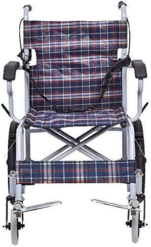 Rollstuhl-Gehhilfsmittel Rollstuhl Stahl Rollstuhl - Leichter zusammenklappbarer Kinderrollstuhl mit Sicherheitsgurt, Rutschfester Oxford-Stoffhandlauf, verbreitertes Fußpedal, Sitzbreite 41 cm
