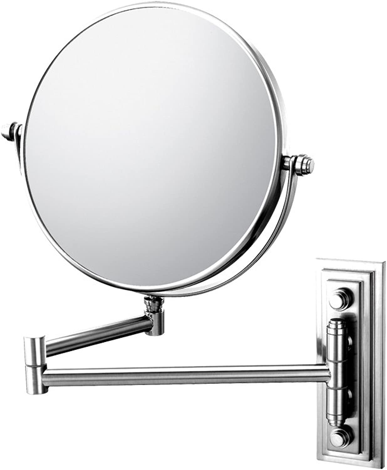 Mirror Image 20845 Classic Double Arm Wall Mirror, 1X and 5X Magnification, Chrome