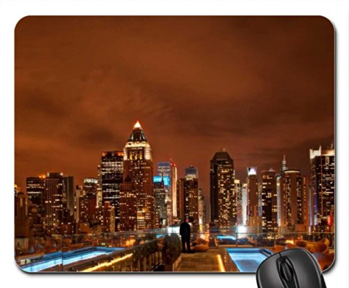lap pool on a balcony in new york city hdr Mouse Pad, Mousepad (Skyscrapers Mouse Pad)