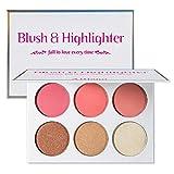 Blusher & Illuminator Highlighter & Bronzer Powder Contour Collection Set - 3...