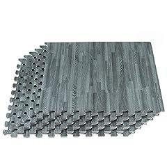 "PREMIUM WOOD GRAIN EVA FOAM FLOOR TILES: Available in 24"" x 24"" x 3/8 inch thick interlocking EVA foam tiles to recreate the appearance of wood grain flooring for a stylized look. BEAUTIFUL & VERSATILE FLOORING SOLUTION: Forest Floor Printed Foam Mat..."