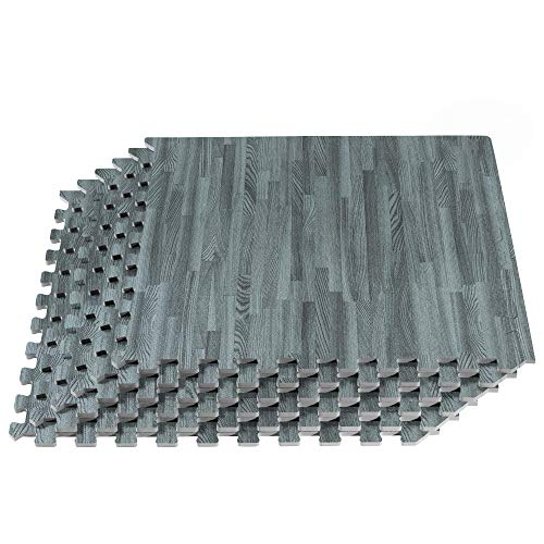 "Forest Floor 3/8"" Thick Printed Wood Grain Interlocking Foam Floor"