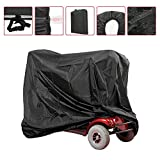 Mobility Scooter Cover, Wheelchair Waterproof Storage Cover Lightweight Rain Protector from Dust Dirt Snow Rain Sun Rays - 66 x 24 x 46 inch (L x W x H)