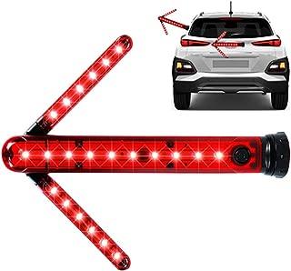 LED Road Flares Safety Turn Arrow Light Emergency Roadside Flashing Flares Safety Strobe Light - Road Warning Beacon, Detachable Magnetic, Unfolding Rotating blade, Emergency Car Kit, Battery Included