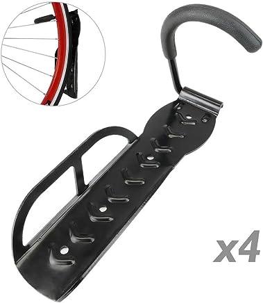 PrimeMatik - Gancho de Pared para Colgar Bicicleta por la Rueda Kit de 4 Unidades