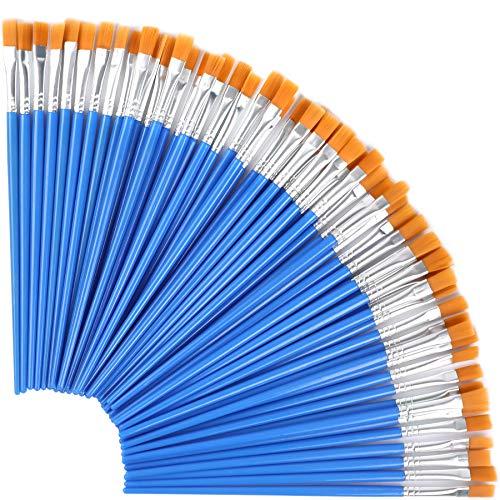 Augshy 30 Stück Flache Pinsel, 7mm Kleine Künstlerpinsel Pinsel Set für Details und Kunstmalerei