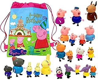 NiceMax Peppa Pig Forever Friends Figure 25 Pack With Stuff Bag