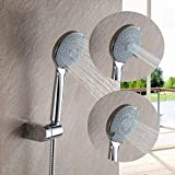 KANJJ-YU ABS mano de plástico tres ajuste de ahorro de agua redondo ducha cabeza ABS mano mano accesorio baño baño