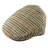 Pesci Kids Gorras Planas Mezcla de Lana Tweed Sombreros Boinas para Niños, Marrón 4-8 años 54cm