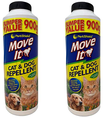 2 Pack (1.8kg) of PestShield Move It Cat & Dog Garden Repellent Non Toxic...