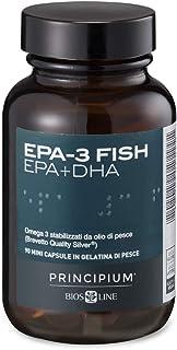 BIOS LINE Principium EPA-3 Fish, Integratore alimentare ricco di Omega 3, Integratore compresse che contribuisce alla norm...