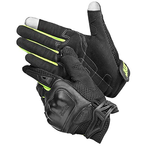 Motorcycle Gloves, Smartphone Compatible, Touch Panel Compatible, Anti-Slip, Shockproof, Breathable, Durable, Unisex, Summer.