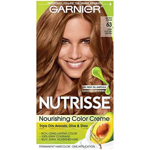 Garnier Nutrisse Nourishing Color Creme [63] Light Golden Brown 1 ea (Pack of 4)