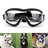 Namsan - Occhiali da sole trasparenti per cani, impermeabili, antivento, protezione per cani di taglia grande/media
