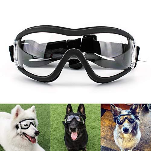 Namsan Gafas de sol transparentes para perros, impermeables, resistentes al viento, protección de ojos para perros grandes y medianos