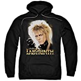 Labyrinth 1980's Movie Jim Henson David Bowie areth Adult Pull-Over Hoodie Black