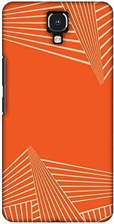 AMZER Slim Designer Snap On Hard Shell Case Back Cover for Infinix Note 4 - Carbon Fibre Redux Tangy Orange 3