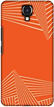 AMZER Slim Designer Snap On Hard Shell Case Back Cover for Infinix Note 4 - Carbon Fibre Redux Tangy Orange 3