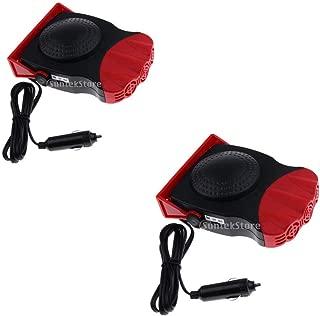 Finelyty Ventilador de Aire Caliente Calentador port/átil para autom/óvil Descongelador de Parabrisas Ventilador de enfriamiento de calefacci/ón r/ápida para Cami/ón Coche 12V