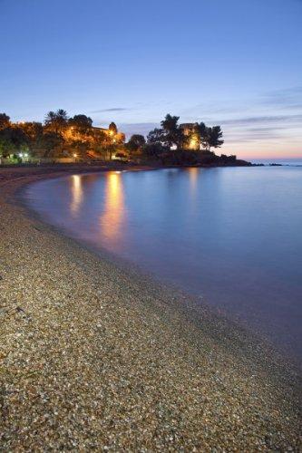 Beach of Santa Maria Navarrese, District of Baunei, Province of Ogliastra, Sardinia, Italy Giclee Art Print Poster or Canvas