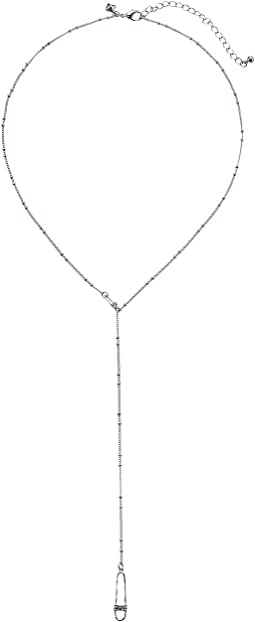 Rebecca Minkoff - Pave Safety Pin Y-Necklace