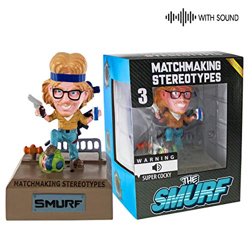 Fandrops - Bobblehead with Sound, Collectible Gamer Gift, Action Figure Inspired by Gamer Stereotypes (Smurf)