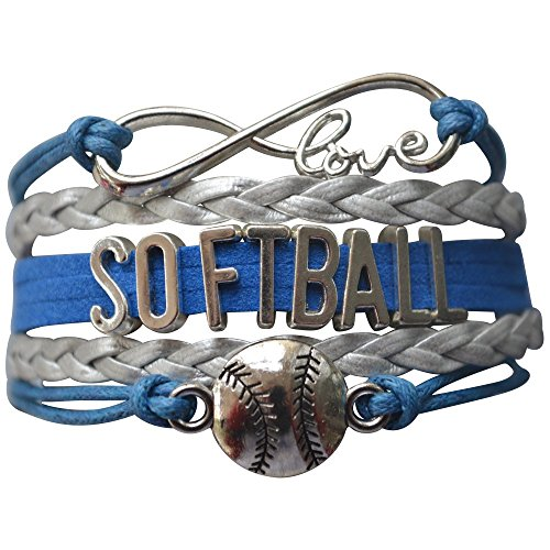 Infinity Collection Softball Bracelet- Softball Jewelry - (12 Styles) Perfect Softball Player, Team and Coaches Gifts