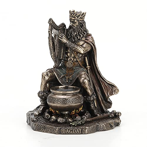 Veronese Design 7 1/4' Tall Celtic God Dagda Druid King of Tuatha De Danann Cold Cast Bronzed Resin Sculpture