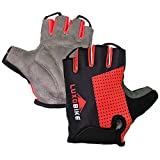 Cycling Gloves (Red - Half Finger, X-Large)