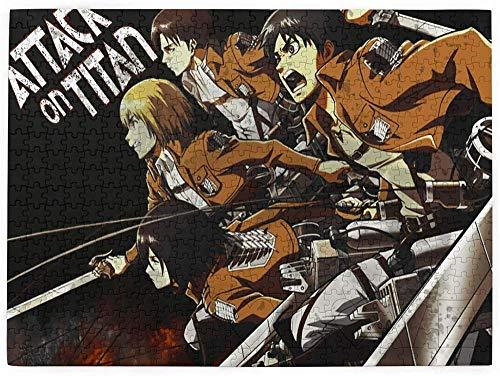 Attack ON Titan Puzzles 520 Piece Challenge Anime para niños y Adultos Cada Pieza Única 20.4 X15