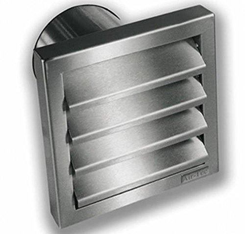 Hotte aspirante - Grille extérieure - Diamètre : 125 mm - En acier inoxydable - Avec clapet anti-retour.