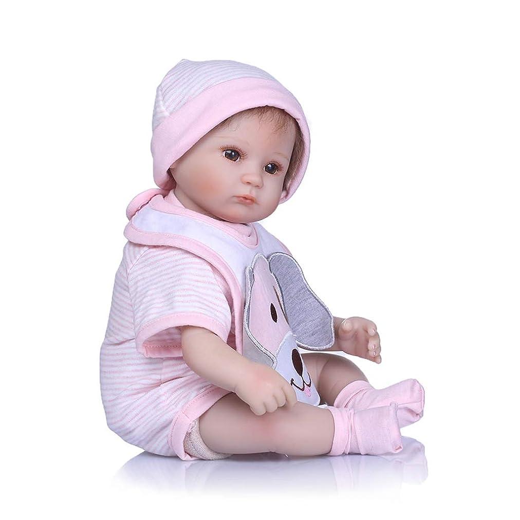 計算可能テーマ筋肉のToygogo 人形 ドール 新生児 リボーンドールデビュー 出産祝い 40cm 手足可動式 シリコンリアル 犬柄ジャンプスーツ