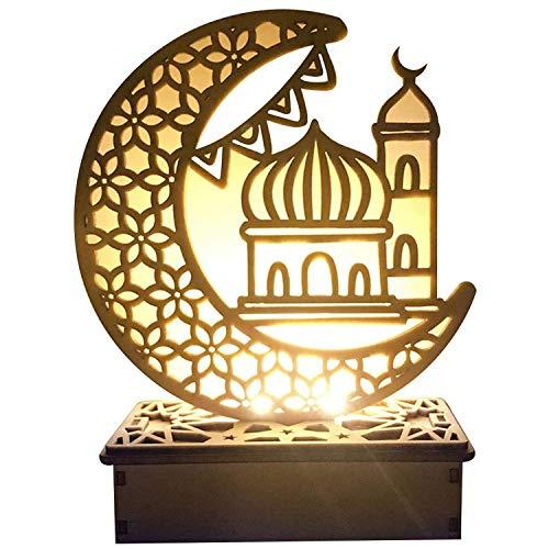 Ramadan Laterne LED Hängende Laternen Ramadan Dekoration Lichter Urlaub Beleuchtung Schmiedeeisen Nachtlicht, DIY Eid Mubarak LED Nachtlicht Für Partys (A)