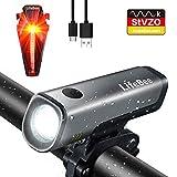 LIFEBEE LED Fahrradlicht Set, StVZO Zugelassen USB Wiederaufladbare Fahrradbeleuchtung...