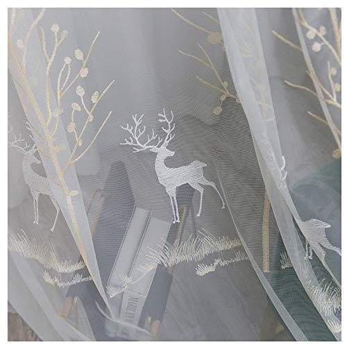 PHBSF White Voile Vorhänge Stoff Für Schlafzimmer Privatsphäre Wohnzimmer Fenster Behandlung Vorhang Voile Material (2,8 M Breite)(Size:4m)