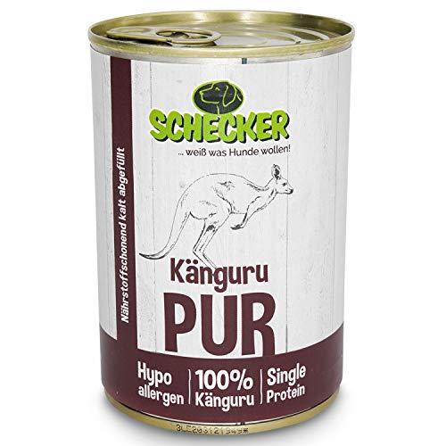 Schecker DOGREFORM Känguru pur 6X 410g - 10 Verschiedene Sorten - Nassfutter - fettarmes Muskelfleisch - glutenfrei - 100% Frisch - frei von Konservierungsstoffen