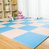 GRENSS Home per bebè e Bambini la Camera da letto di Arrampicata Palestra di arrampicata Mat Materassini da Yoga soggiorno superriduttore di schiuma spessa Pad,50 * 50 * 1.0 (15), m + BLU