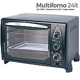 DCG Eltronic MB9824 N - Forno elettrico, termostato regolabile, ventilato, spia luminosa, 4...