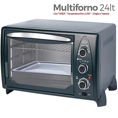 2192 Kooper Forno Elettrico Ventilato Fornetto 24 Litri 1380 Watt colore Nero