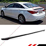 Cuztom Tuning Fits for 2011-2014 8TH Gen Hyundai Sonata Sporty Painted Glossy Black Trunk Lid Spoiler