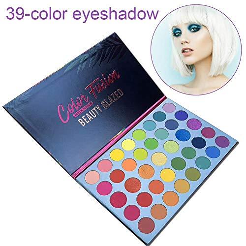 Godya Paleta de Sombra de Ojos Mate de Brillo de 39 Colores Paleta de Maquillaje de Pigmento Alto arcoíris Brillante