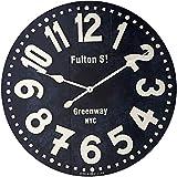 "Howard Miller Fulton Street Wall Clock 625-557 – 36"" Black Oversized Gallery with Quartz Movement"
