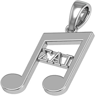 Sigma Alpha Iota Music Symbol Note Necklace with a 18