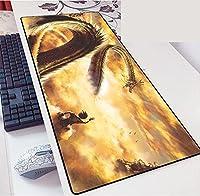 ドラゴンボール龙珠鼠标垫 大型 桌垫 PC垫 超大型 游戏鼠标垫 时尚 防水 耐久性 防滑 办公室 游戏-900X400X3MM-B_700*300*3MM