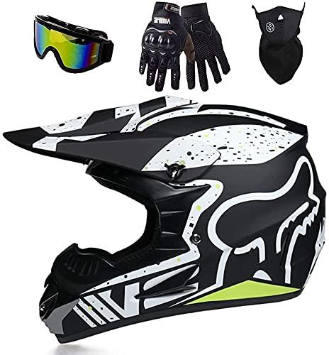 Aishengjia Casco de Motocross, Casco de Kart, Unisex, Bicicleta de montaña, ATV, BMX, Descenso Todoterreno