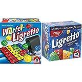 Schmidt Spiele 49611 Würfel Ligretto, Würfelspiel & 01101 - Ligretto blau, Kartenspiel