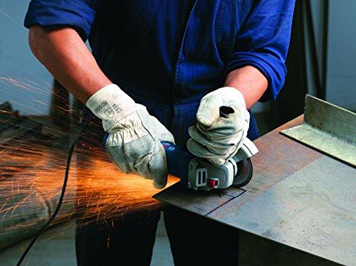 Bosch Professional Meuleuse d'angle GWS 7-125 (720 watts, disque Ø: 125 mm, avec poignée supplémentaire, bride de montage, écrou de serrage, couvercle de protection, clé à deux trous, dans une boîte)