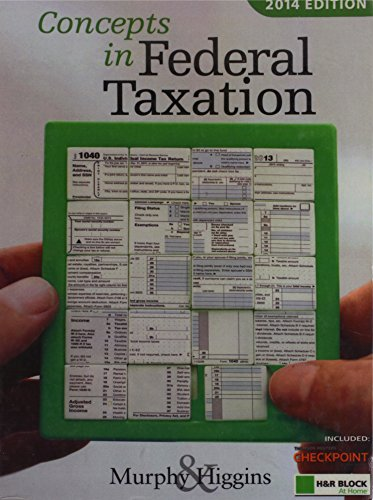 Concepts in Federal Taxation 2014, Professional Edition (with H&R BLOCK At Home™ Tax Preparation Software CD-ROM)